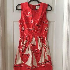 Red Sailboat Berru Poplin Dress | Maeve